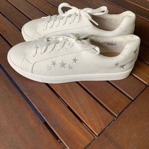 New white with stars sneakers